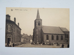 "CP ""Hainin Eglise - La Place"" Nels - Ern. Thill, Bruxelles - Hensies"