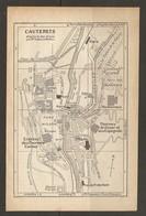 CARTE PLAN 1928 - CAUTERETS NEO THERMES THERMES Des CESAR Et Des ESPAGNOLS CASINO KIOSQUE - Cartes Topographiques