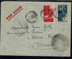 A.E.F. Affr. France Libre 115 +118 Sur Enveloppe De Port-Gentil, Pour Le Commissaire De Police D'Akwa-Deido De Douala - - A.E.F. (1936-1958)