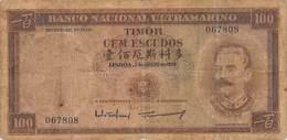 100 Escudos - Timor - Colônia Portuguesa  1959 VF/F (III) - Timor