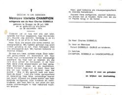 M.CHAMPION °BRUGGE 1908 +1974 (C.DOBBELS) - Devotion Images
