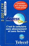 Prépayée Côte D'Ivoire Telecel Loteny 1999 - 5000 FCFA - Ivory Coast
