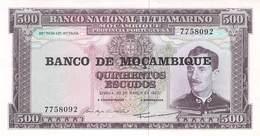 500 Escudos Banknote Mocambique UNC 1967 - Moçambique