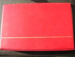 Vends Classeur FDC Rouge De Marque FDC - Albums & Binders