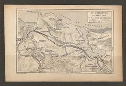 CARTE PLAN 1928 - CHEMIN De FER De St SEBASTIEN Au MONT ULIA Et à La BAIE De PAJADAS - Topographical Maps