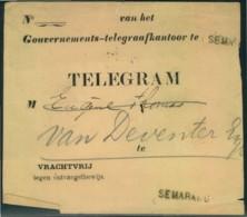 NETHERLANDS INDIA, Telegram Envelope SEMARANG - Non Classificati