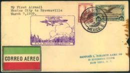 MEXICO, 1929: First Flight MEXICO CITY - BRIWNSVILLE - Non Classificati