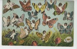ENFANTS - BÉBÉS - Jolie Carte Fantaisie Enfants Avec Papillons - Abbildungen