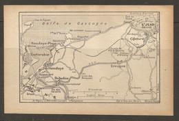 CARTE PLAN 1928 - St JEAN De LUZ CIBOURE URRUGNE BEHOBIE HENDAYE FONTARABIE IRUN - Cartes Topographiques