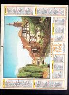CALENDRIER 1976 BATEAUX DE PECHE A HONFLEUR ANDLAU BAS RHIN ALMANACH DES P.T.T. - Calendriers