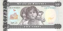 5 Nakfa Eritrea 1997 UNC - Eritrea
