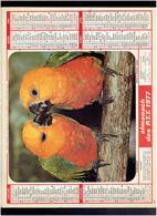 CALENDRIER 1977 FLEUR OISEAUX ALMANACH DES P.T.T. - Calendriers