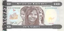 10 Nakfa Eritrea 1997 UNC - Eritrea