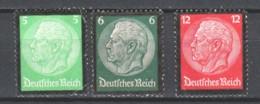 Germany Reich 1934 Mi 549-550-552 MNG - Germany