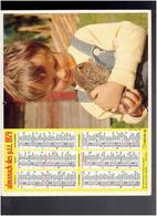 CALENDRIER 1979 ENFANT ET FAON ENFANT ET LAPIN ALMANACH DES P.T.T. - Calendriers