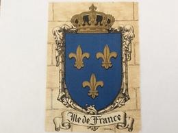 Blason Héraldique De France Île De France Par Barre Et Dayez - Ohne Zuordnung