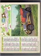 CALENDRIER 1980 VOITURE ANCIENNE BELSIZE TOURER 1909 FLEURS ALMANACH DES P.T.T. - Calendriers