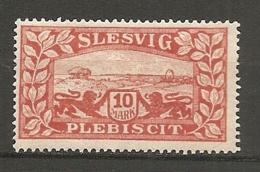 SCHLE - Yv. N° 38  *   10m  Sclleswig Plébiscite Cote  8 Euro  BE    2 Scans - Schleswig-Holstein