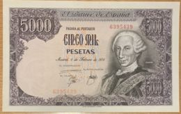 Ref. 162-265 - BIN SPAIN . 1976. 5000 Pesetas Spanish State 6th February 1976. 5000 Pesetas Estado Espa�ol 6 De Febrero - [ 4] 1975-… : Juan Carlos I