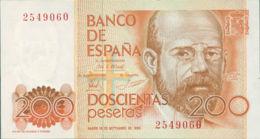 Ref. 247-391 - BIN SPAIN . 1980. 200 Pesetas  16th September 1980 - Leopoldo Alas Clarin. 200 Pesetas  16 De Septiembre - [ 4] 1975-… : Juan Carlos I