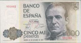 Ref. 250-401 - BIN SPAIN . 1979. 5000 Pesetas October 23rd; 1979 - Juan Carlos I. 5000 Pesetas 23 De Octubre De 1979 - J - [ 4] 1975-… : Juan Carlos I
