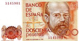 Ref. 247-500 - BIN SPAIN . 1980. 200 Pesetas  16th September 1980 - Leopoldo Alas Clarin. 200 Pesetas  16 De Septiembre - [ 4] 1975-… : Juan Carlos I