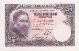 Ref. 229-476 - BIN SPAIN . 1954. 25 Pesetas 22nd July 1954 - Isaac Albeniz. 25 Pesetas 22 De Julio 1954 - Isaac Albeniz - [ 3] 1936-1975 : Régimen De Franco