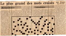 Le Plus Grand Des Mots Croisés  Par  Roger La Ferté  EN 1978..a Voir Etat Vierge ( A Remplir - Other