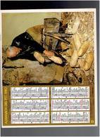 CALENDRIER 1980 VENDANGES SABOTIER SABOT ALMANACH DES P.T.T. - Calendriers