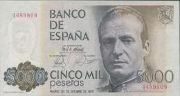 Ref. 250-696 - BIN SPAIN . 1979. 5000 Pesetas October 23rd; 1979 - Juan Carlos I. 5000 Pesetas 23 De Octubre De 1979 - J - [ 4] 1975-… : Juan Carlos I