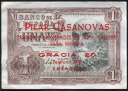 Ref. 405-702 - BIN SPAIN . 1953. 1 PESETA 1953 MARQUES DE SANTA CRUZ - [ 3] 1936-1975 : Régimen De Franco