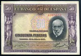 Ref. 415-748 - BIN SPAIN . 1935. 50 PESETAS 1935 RAMON Y CAJAL - 50 Pesetas