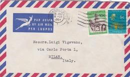 BUSTA VIAGGIATA  BY AIR MAIL SUD AFRICA  - JOHANNESBURG - VIAGGIATA PER MILANO / ITALIA - Storia Postale