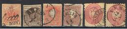 LOMBARDO-VENETTO 1 //  3B, 4, 13, 14, 20, 25 // 1850-69 - Lombardo-Vénétie