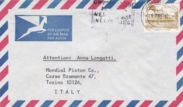 BUSTA VIAGGIATA  BY AIR MAIL SUD AFRICA  - JOHANNESBURG - VIAGGIATA PER TORINO / ITALIA - Sud Africa (1961-...)