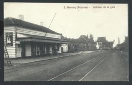 +++ CPA - WERVIK - WERVICQ - Intérieur De La Gare - Statie - Cachet Militaire     // - Wervik