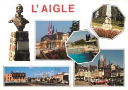 61 - L'Aigle - Multivues - Automobiles - Statue De La Comtesse De Ségur - Piscine - Voir Scans Recto-Verso - L'Aigle