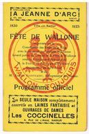 NAMUR - Programme Officiel Des Fêtes De Wallonie 1830-1923 - Programmi
