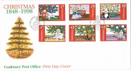 33113. Carta F.D.C. GUERNSEY 1998. Christmas Complet Shet - Guernsey