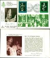 12111a)F.D.C.serie Concilio Ecumenico Vaticano II- 9-10-63 SESSIONE II-PAOLO VI - FDC