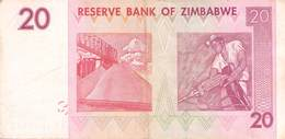 20 Twenty Dollars Zaire 2007 VF/F (III) - Zaire