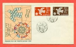 EUROPA - EUROPE-  SPAGNA 1961 - FDC