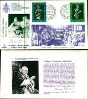 12112a)F.D.C.serie Concilio Ecumenico Vaticano II- 7-10-63 SESSIONE II-PAOLO VI - FDC