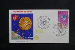 CÔTE DES SOMALIS - Enveloppe FDC 1965 , Satellite - L 32157 - Côte Française Des Somalis (1894-1967)