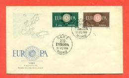 EUROPA - EUROPE-  SPAGNA   CEPT 1960 - FDC