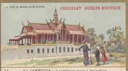 CHROMO IMAGE ) GUERIN BOUTRON Le Tour Du Monde En 84 Etapes ( Cambodge Residence Royale A Pnom Penh ) (6x10.5) - Guerin Boutron