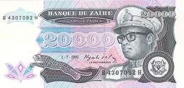 20 000 Zaires Zaire 1991 UNC - Zaire