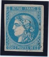 20 C Bleu Type III Report 2 N° 46 TB. - 1870 Bordeaux Printing