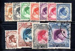 APR722 - LIBIA LYBIA 1952 , Serietta Yvert  N. 126/136  Usata (2380A) - Libia