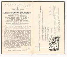 DP Celine L. Bouckaert ° Houtem Zandvoorde 1853 † Boezinge Ieper 1942 X Petrus J. Coulier / Pecceu Degeyne Sampers - Devotion Images